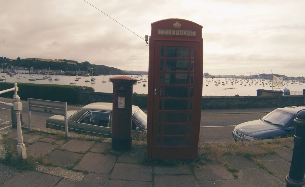 a classic British phone booth