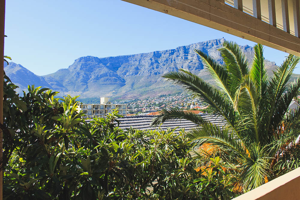 view of Table Mountain from Carla's balcony