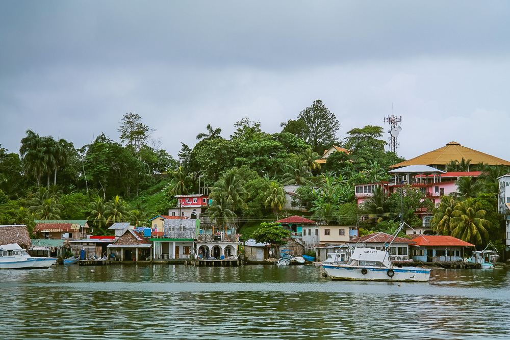 The town of Livingston, at the mouth of the Rio Dolce