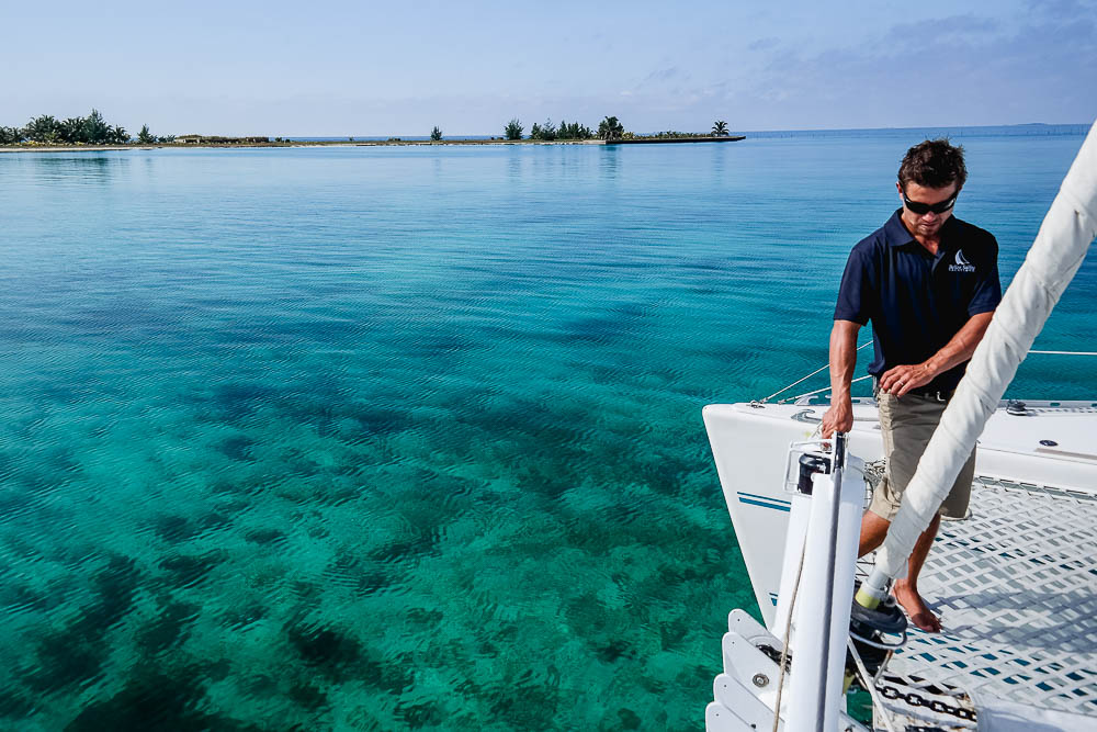 anchoring off another picturesque island