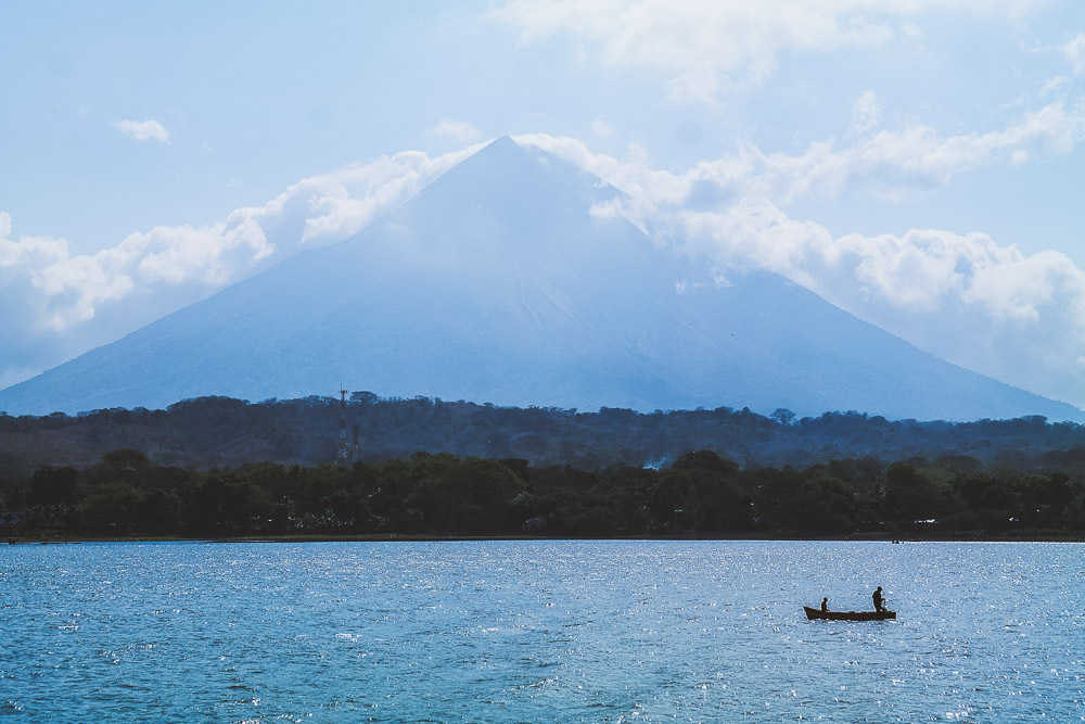 view of Volcán Concepción as we approached Ometepe Island on the ferry