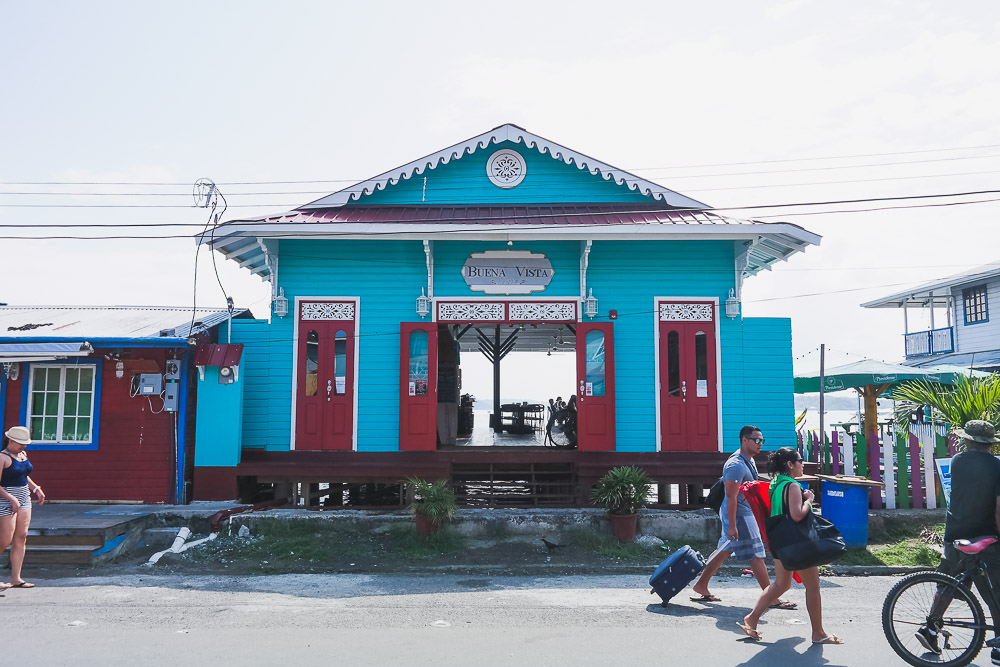 one of the waterfront restaurants in Bocas towm