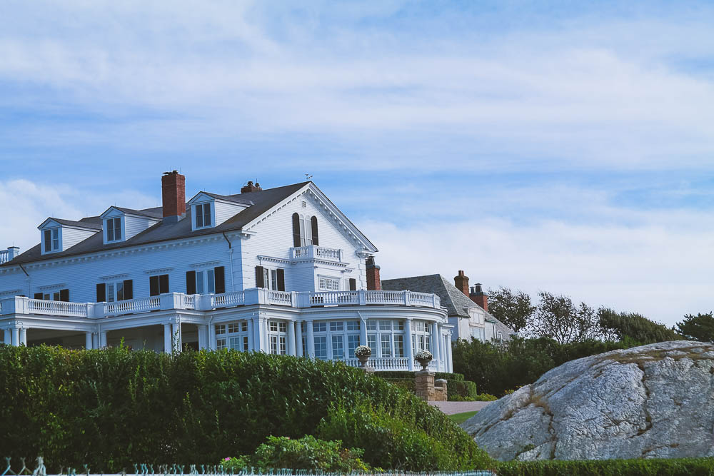 one of the mansions on the Cliff Walk in Newport