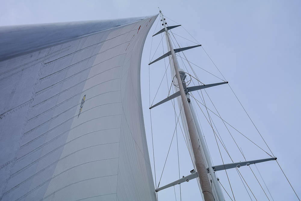 this is what a $200,000.00 new custom mainsail from Doyle looks like