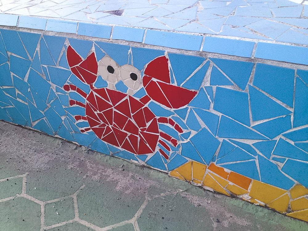 mosaics along the Hamdeok Beach promenade